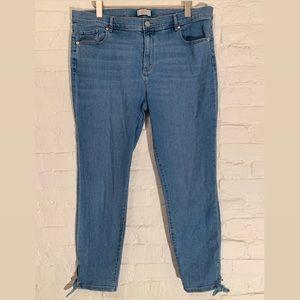 Women's Modern Tie Hem Skinny Denim Jeans